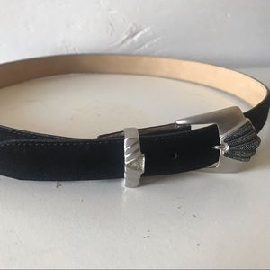 Black Judith Jack Genuine suede belt